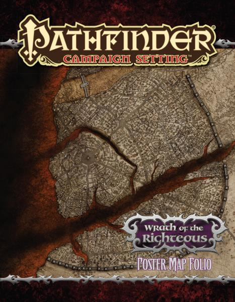 Pathfinder: Campaign Setting: Wrath of the Righteous Poster Map Folio [SALE]