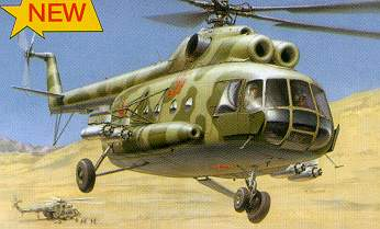 Zvezda Military 1/72 Scale: MIL-8T Helicopter