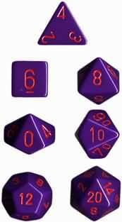 Chessex (25417): Polyhedral 7-Die Set: Opaque: Purple/Red