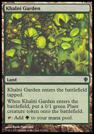 Magic: Commander 2013 302: Khalni Garden