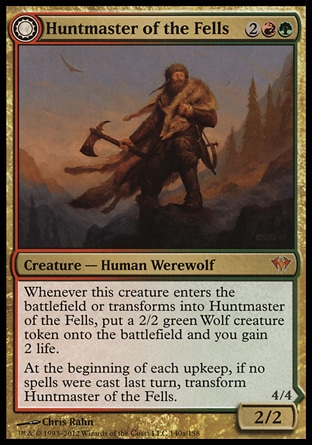 Magic: Dark Ascension 140: Huntmaster of the Fells // Ravager of the Fells