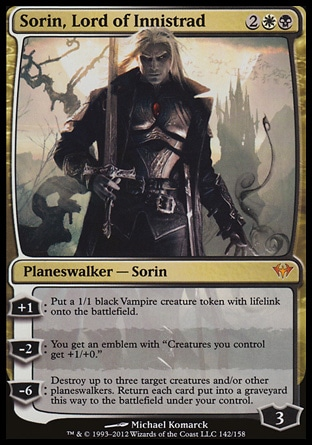 Magic: Dark Ascension 142: Sorin, Lord of Innistrad