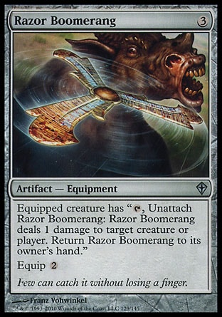 Magic: Worldwake 129: Razor Boomerang