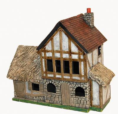 Miniature Building Authority: 28mm Eurovillage: Thatched Stable [clone]